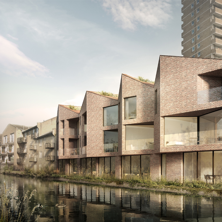 Planning granted for eight canal side homes ph for Architects online